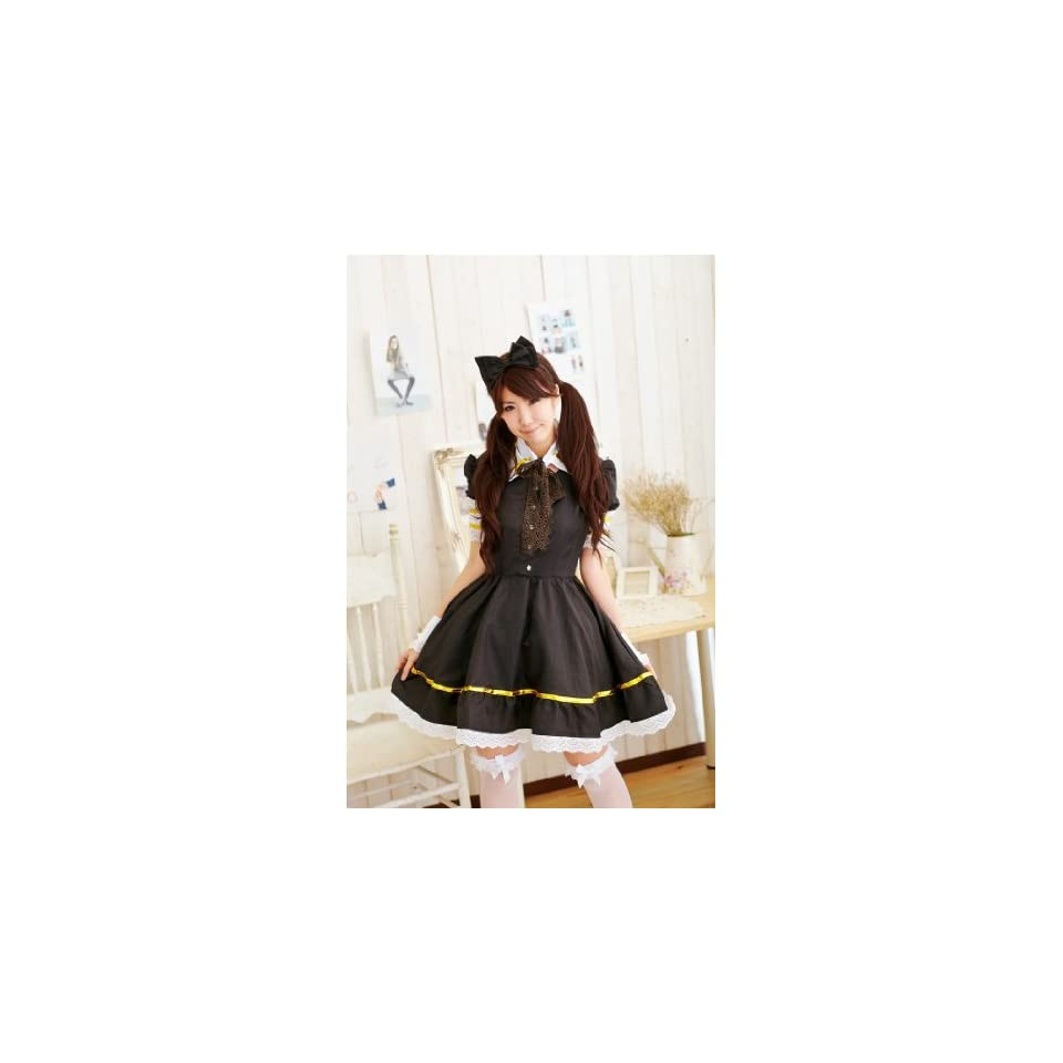 Cute Lolita maid cosplay costume gorgeous eight point set S size maid costume clothes Gothic & Lolita Costume (japan import)
