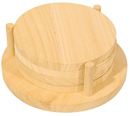 4 Stück, mit Holzgestell, 12.5 x 12.5 x 4 cm