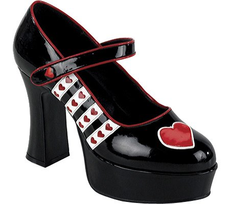 Funtasma By Pleaser Women'S Halloween Queen-55,Black-White-Red Patent,6 M