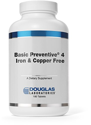 Douglas Laboratories® - Basic Preventive 4 (Iron & Copper Free) - Highly Concentrated Vitamin / Mineral / Trace Element Supplement - 180 Tablets (Douglas Laboratories Iron compare prices)