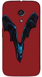 Timpax Protective Hard Back Case Cover Full access to all features. ports of the device including microphone, speaker, camera and all buttons. Printed Design : A flying animal.Exclusively Design For : Motorola Moto-G-2 ( 2nd Gen )