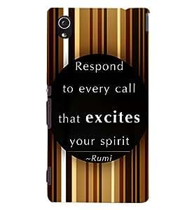 PRINTVISA Quotes Inspiration Case Cover for Sony Xperia M4 Aqua