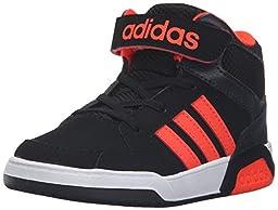 adidas NEO Boys\' BB9TIS Mid Inf Sneaker, Black/Infrared/White, 3 M US Infant