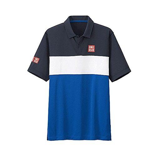 【UNIQLO】ユニクロ MEN NK ドライEXポロシャツ (半袖) (錦織 圭・2015年全仏モデル) (L, NAVY)