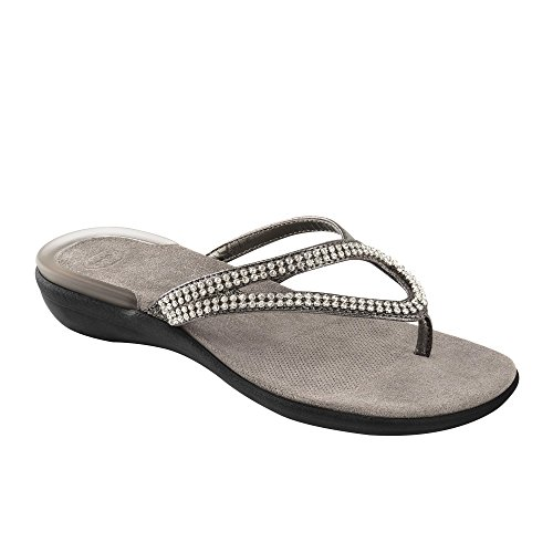 DR.SCHOLL LULU INFRADITO GELACTIVE CON STRASS (39, PEWTER)
