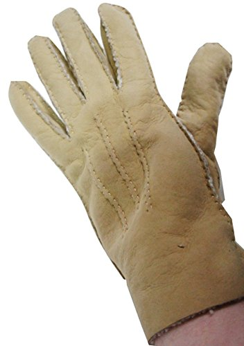 john-lewis-light-beige-soft-suede-lambskin-gloves-size-x-large