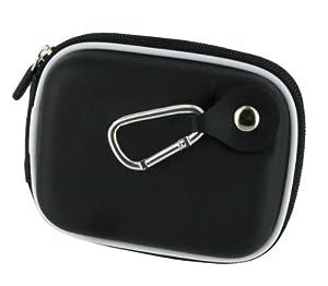 rooCASE (Med EVA Black) Hard Shell Carrying Case with Memory Foam for FujiFilm Fuji FinePix F550EXR Digital Camera
