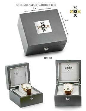 Millage Retrograde Elite Collection - Rose Gold Case On Black Dial & Black Leather Strap