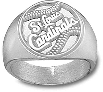 St. Louis Cardinals Baseball Mens Ring Size 10 1 2 - Sterling Silver Jewelry by Logo Art