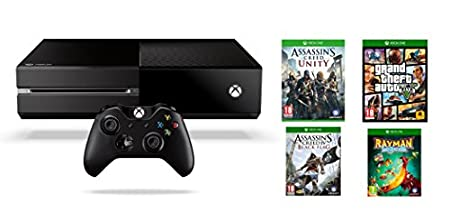 Xbox One - Consola Sin Kinect + GTA V + Assassin's Creed: Unity + Assassin's Creed IV: Black Flag + Rayman Legends