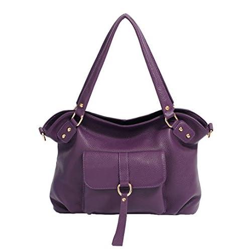 SAIERLONG Women's Tote Single Shoulder Bag Handbag Cow Leather