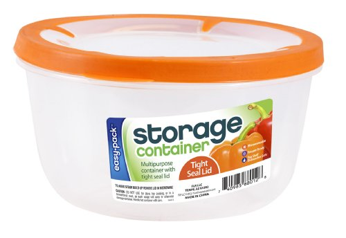 Easy Pack Round Plastic Container, 65-Ounce (Resealable Plastic Containers compare prices)