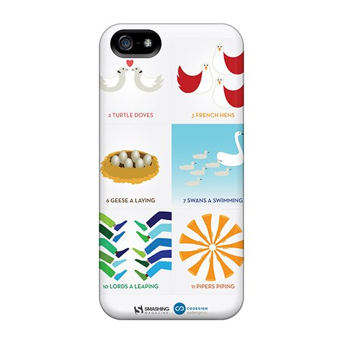 Iphone 5/5S Case Cover 12 Days Of Christmas Case - Eco-Friendly Packaging