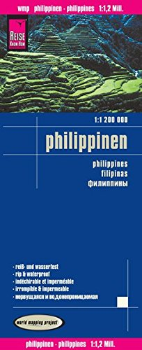 Filipinas, mapa impermeable de carreteras. Escala 1:1.200.000 impermeable. Reise Know-How.