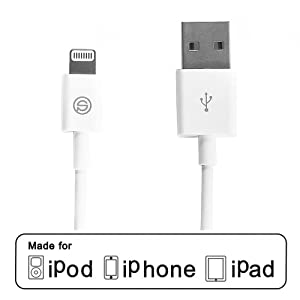 OPSO Apple MFi Certified Lightning Cable to USB Charger Cord for iPhone 5/5S/5C/6/6 Plus, iPad Air/4th Generation/Mini/Mini Retina, iPod Touch 5th Generation and iPod Nano 7th Generation (3.3 Feet White)