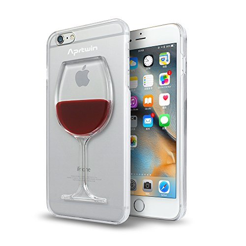 iPhone 6 Case, iPhone 6S Case, Aprtwin® Fashion Style Case, Creative 3D flow Liquid Red Wine Design Ultimate Protection Scratch Proof Hard Back Case for iPhone 6/6S (4.7Inch)[Transparent] (Wine Iphone 6 Case compare prices)