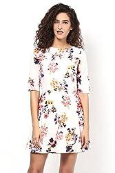 White Printed Flared Dress