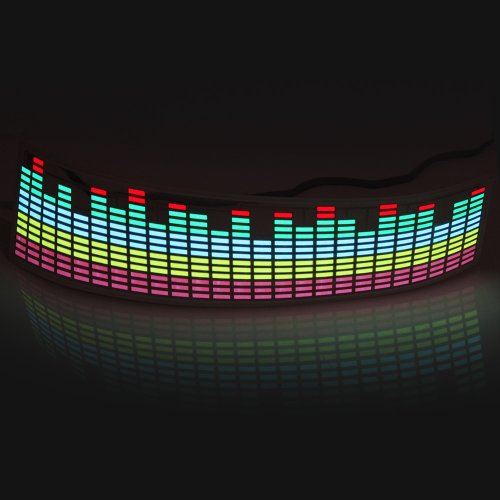 Koolertron 45x11cm Sound music Activated Car Stickers Equalizer Glow with 5 color for cars