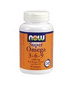 Now Foods Super Omega 3-6-9 Soft-gels, 1200Mg, 180-Count