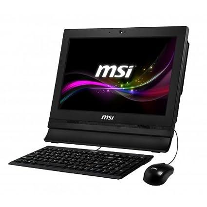 """MSI AP11622ET-016XEU Ordinateur tout-en-un Tactile 15""""(38,10 cm) Noir (Intel Celeron, 4 Go de RAM, 320 Go, HD Graphics)"""