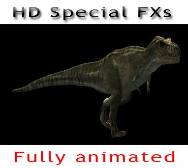HD T-REX Special Effects Drag & Drop into YOUR film!