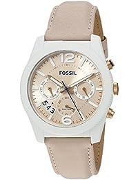 Fossil Perfect Boyfriend Analog Beige Dial Women's Watch - ES3980