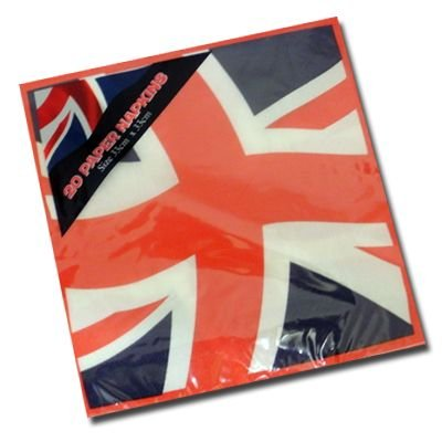 Pack Of 20 Union Jack Napkins (Napkins British compare prices)
