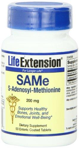 Life Extension SAMe, 200 mg, comprimés, 50-Count
