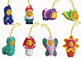 Disney Winnie the Pooh - Peek a Pooh Garden Series Set of 8 -- Cell Phone Charms - Vending Machine Toys