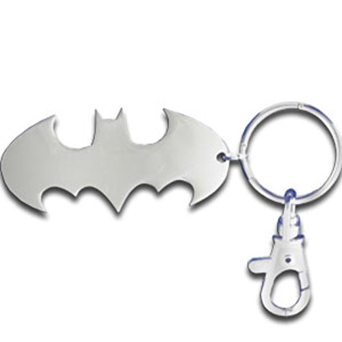 "Licensed DC Comics Originals Batman Chrome Logo Metal 3"" Tall Key Chain Officially Licensed, (Justice League)"