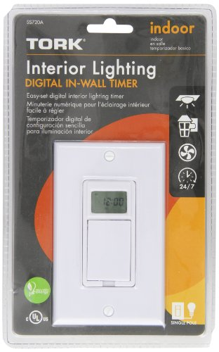 tork ss720a - 24 hr or 7 day digital in-wall timer