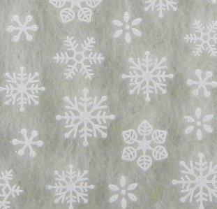 雪の結晶(3)【ラバー素材3Dネイルアートシール】《ホワイト》1シート 61枚入