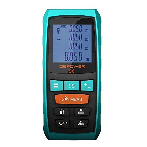 DBPOWER 40M/328FT Water, Dust, and Shock Proof Laser Measure with Extened Ruler