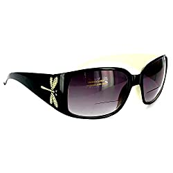 Dragonflies Glamorous Bifocal Reading Sunglasses-Swarovski Elements 100%UV