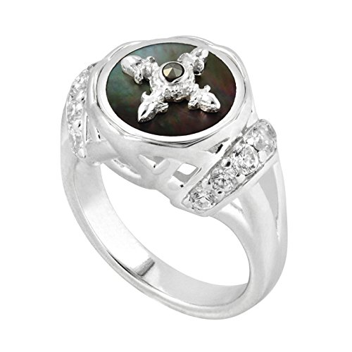 Kameleon Jewelry Sterling Silver Saddle Ring KR042 Size 8 (Saddle Ring compare prices)