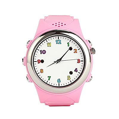 Cada Wireless Charging Smartwatch with Gps Sos Monitoring for Kids Fit for Iphone and Android Smartphone (Princess Pink)