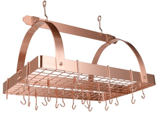 Old Dutch 30-by-20-Inch Rectangular Pot Rack, Copper
