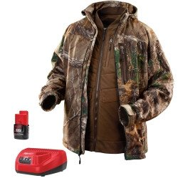 MLW2387L Milwaukee Electric Tools M12 Realtree Xtra Camo 3-in-1 Heated Jacket, Size L (M12 Heated Jacket compare prices)