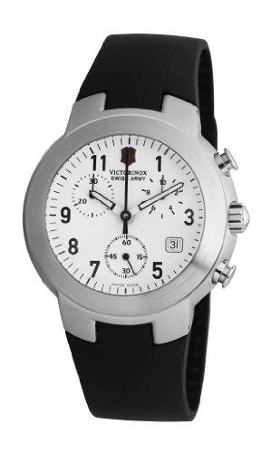 Victorinox Maverick Chrono V.25525 - Reloj cronógrafo de cuarzo para hombre, correa de goma color negro (cronómetro)