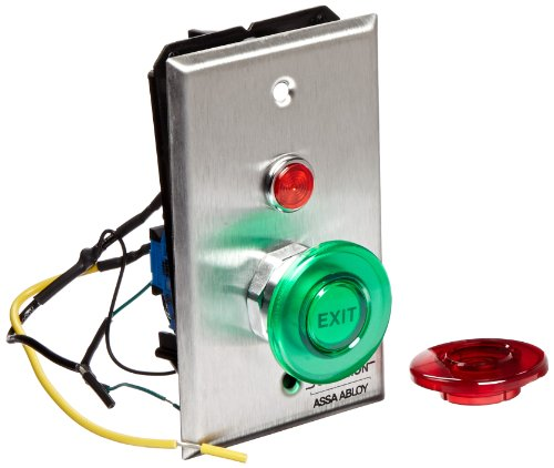 """Securitron Single Gang Momentary Push Button, Dpst, 7Amps, 1.5"""" Round Momentary"""