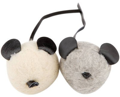 Multipet 37900 Wooley Bully Cat Mouse Toy