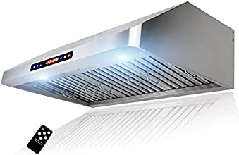"""Golden Vantage 30"""" Under Cabinet Stainless Steel Range Hood GV-1801-75 With Gas Sensor And Remote"""