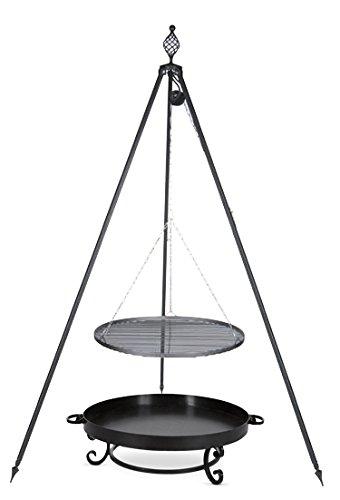 Schwenkgrill mit Dreibein Royal, Rost 80 cm aus Edelstahl, Feuerschale #32 80 cm jetzt kaufen