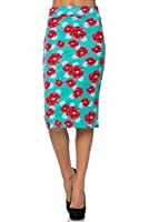 Women's Below the Knee Pencil Skirt for Office Wear - Made in USA