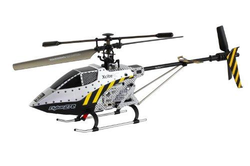 XciteRC-12500000-RC-Hubschrauber-Flybar-270L-Single-Blade-35-Kanal-RTF-mit-24-GHz-Fernsteuerung-L-silber