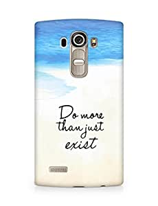 AMEZ do more than just exist Back Cover For LG G4
