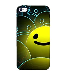 99Sublimation Animated Smile 3D Hard Polycarbonate Back Case Cover for Apple iPhone 5
