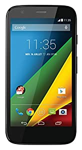Motorola G 4G Smartphone débloqué 4G (Ecran: 4.5 pouces - 8 Go - Android 4.4 KitKat - Micro SD) Noir