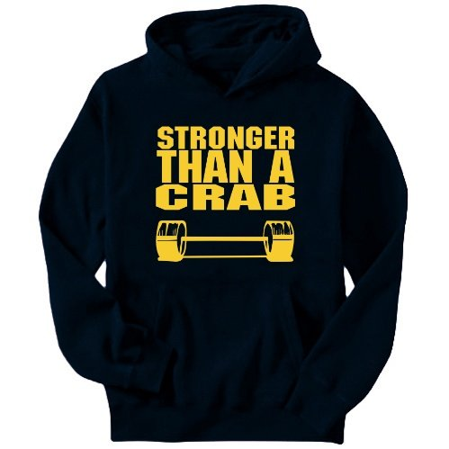 Stronger Than A Crab Mens Hoodie