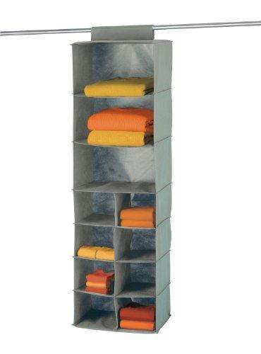 WENKO-4374110100-Wschesortierer-Libert-11-Fcher-100-Polypropylen-36-x-123-x-29-cm-Grau